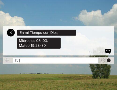 En mi tiempo con Dios de hoy. Mateo 19: 23- 30