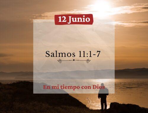 En mi tiempo con Dios de hoy. Salmos 11: 1-7
