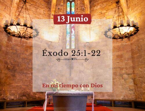 En mi tiempo con Dios de hoy. Éxodo 25: 1-22