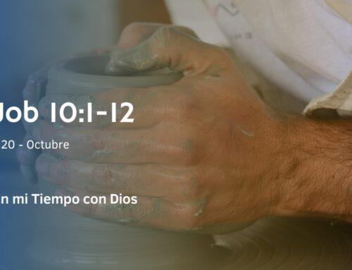 En mi tiempo con Dios de hoy. Job 10: 1- 12